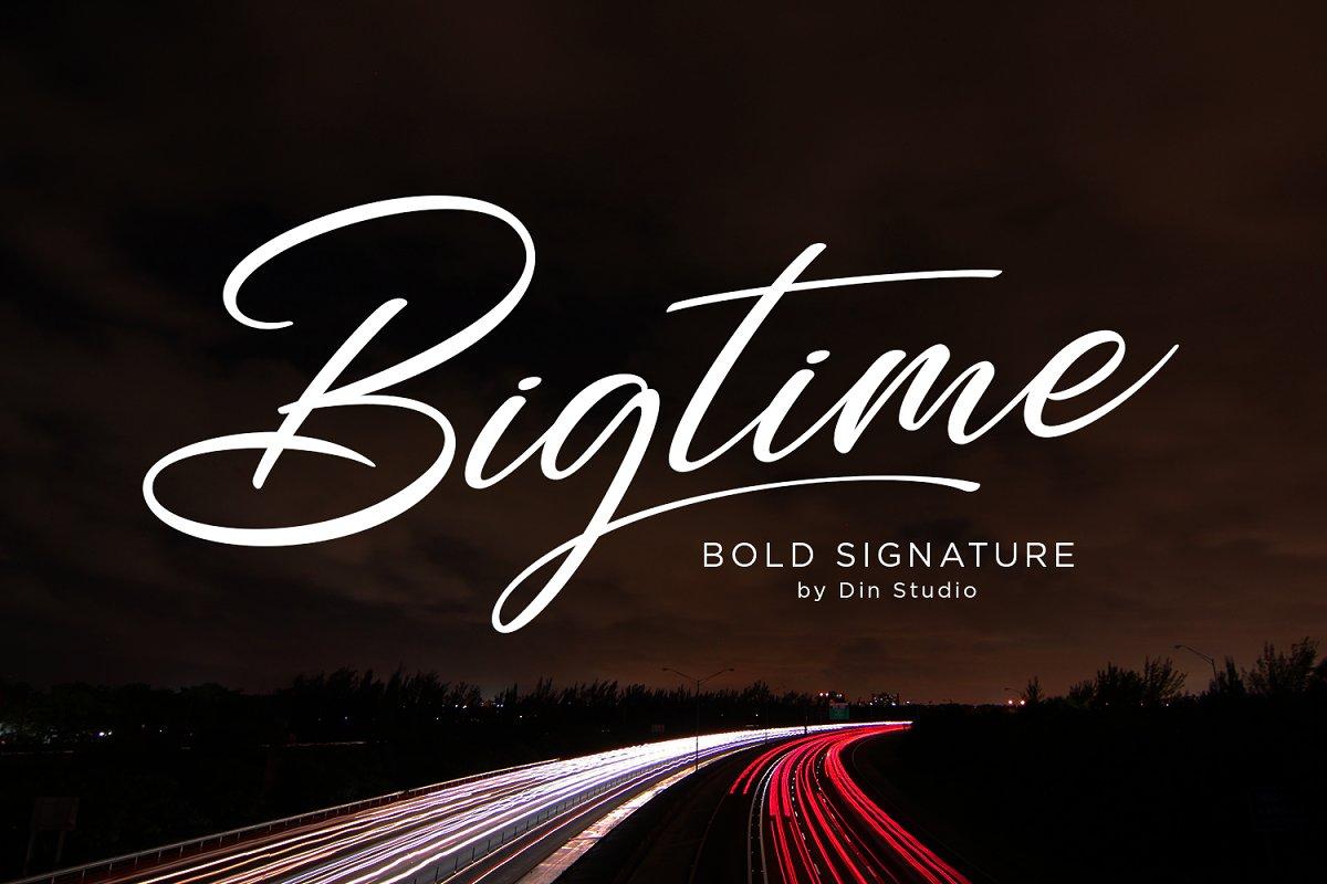Bigtime Script - Bold Signature