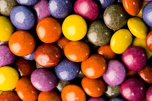 Background of coated chocolate candy