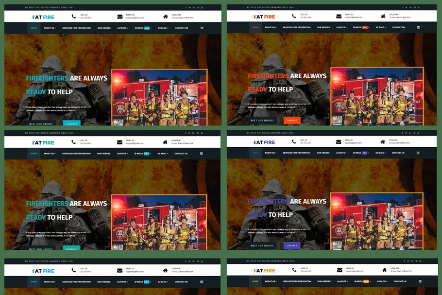 AT Fire Onepage Firefighter Template