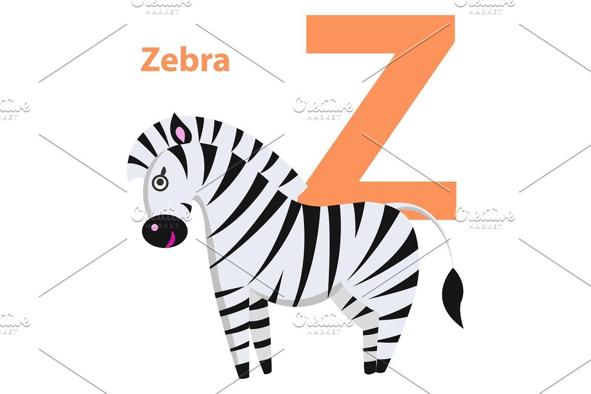 Orange Character Z Word Zebra On
