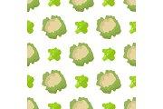 Cauliflower and Broccoli Seamless