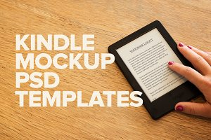 Kindle Touch PSD Mockups