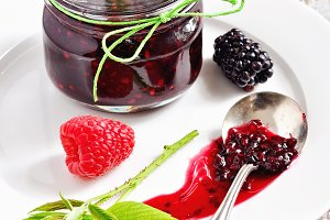 Blackberry and raspberry jam