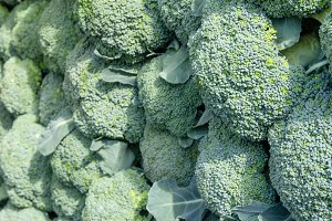 Fresh broccoli at the market