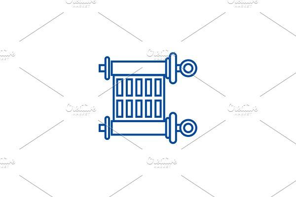 Scroll,torah line icon concept