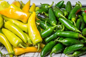 Fresh hot peppers jalapeno