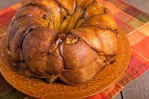 Hazelnut cranberry coffee cake