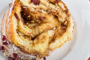 Hazelnut cranberry coffee cake
