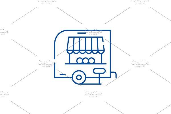 Shop pickup line icon concept. Shop