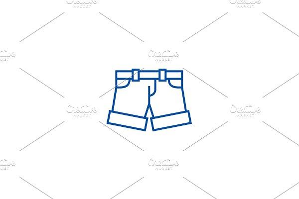 Shorts,briefs line icon concept