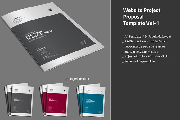 Website Project Proposal Template Stationery Templates – Website Proposal Template