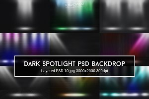 Dark Spotlight PSD Backdrop