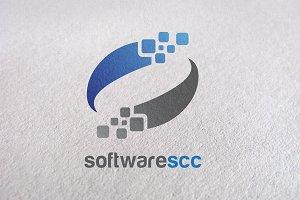 S logo, Letter S, Water, pixel logo