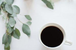 Coffee Stock Image | White Backdrop