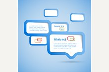 Abstract web design bubble, vector