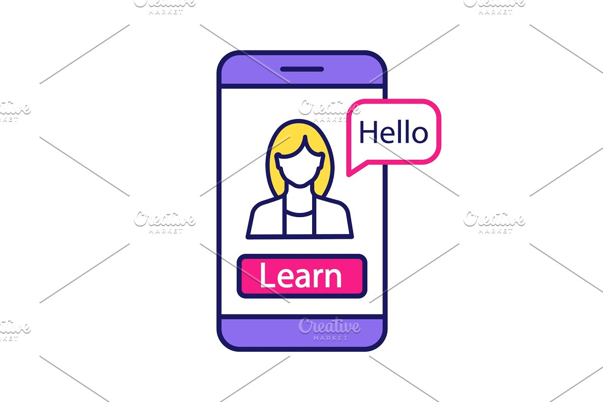 Foreign language learning app icon