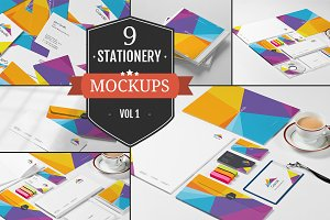 Branding Stationery Mockups Vol. 1