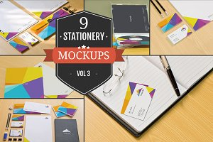 Branding Stationery Mockups Vol. 3
