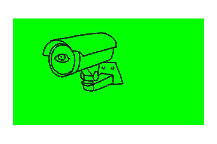 Animation CCTV Surveillance Camera