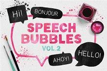 Speech bubble collection + splashes