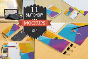 Branding Stationery Mockups Vol. 4