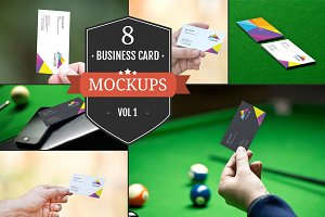 Business Card Mockups Vol. 1