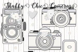 Vector Rustic cameras clipart