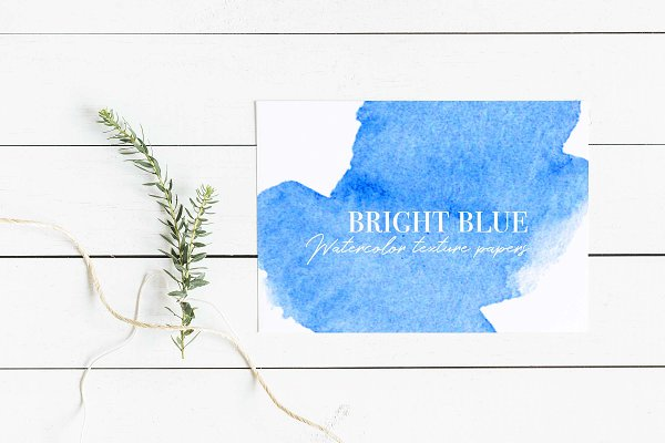 Bright Blue Watercolor Textures