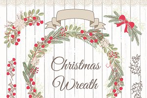 Vector christmas wreaths