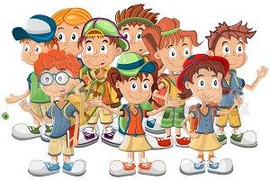 Funny schoolchildren