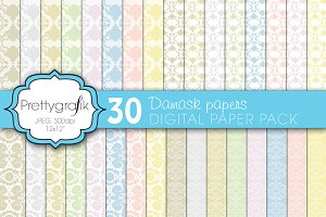 damask digital paper, commercial use