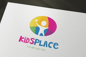 Kids Kindergarten Logo