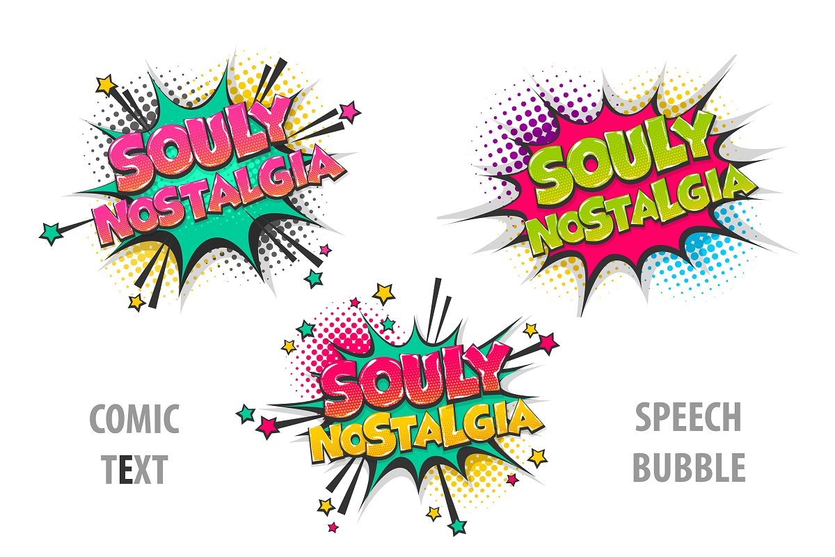 Comic text speech bubble in Illustrations - product preview 8