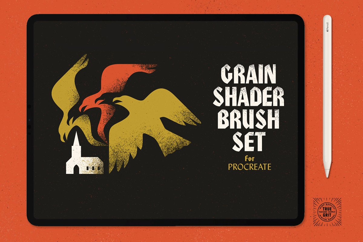 Grain Shader Brushes For Procreate ~ Procreate Brushes