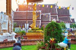 Buddist Temple in Chiang Mai citi