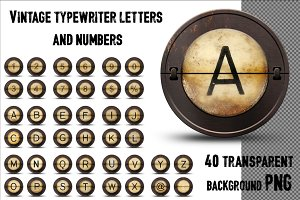Typewriter letters and numbers
