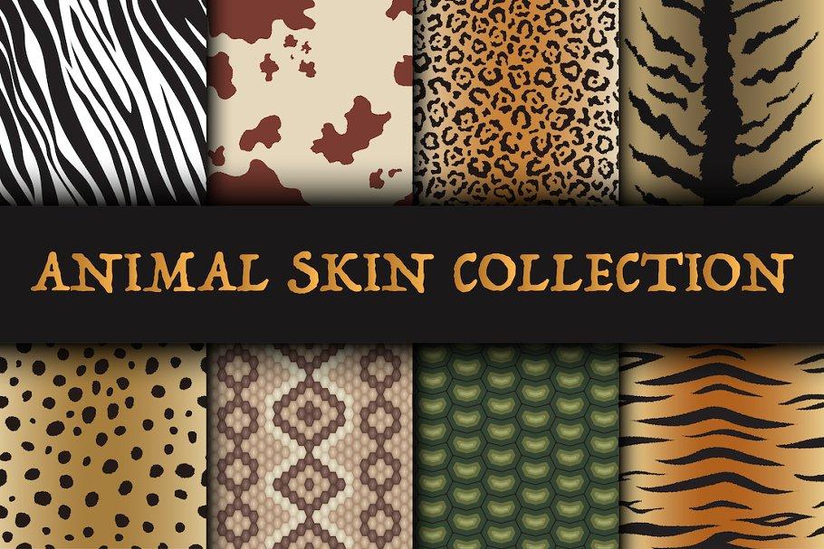 Seamless animal skin patterns