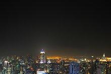 Aerail view of Bangkok downtown