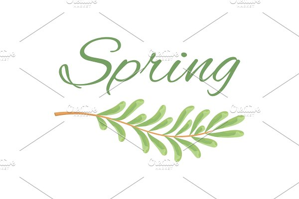 Spring and Branch with Tiny Oblong