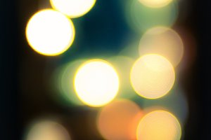 Circular bokeh lights background