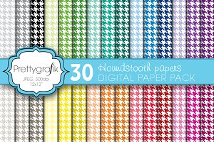 houndstooth digital paper
