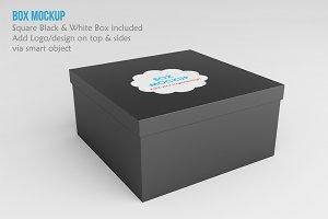 Square Box Mockup