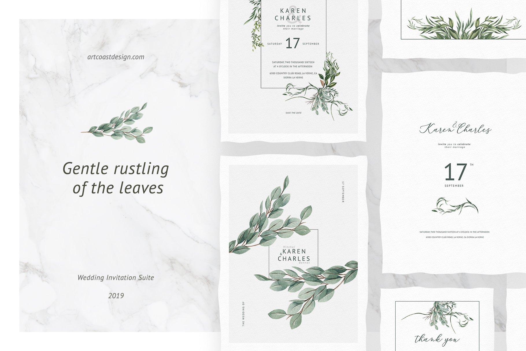 Gentle Rustling Of The Leaves ~ Wedding Templates