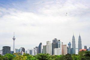 Skyline of Kuala Lumpur, Malaysia
