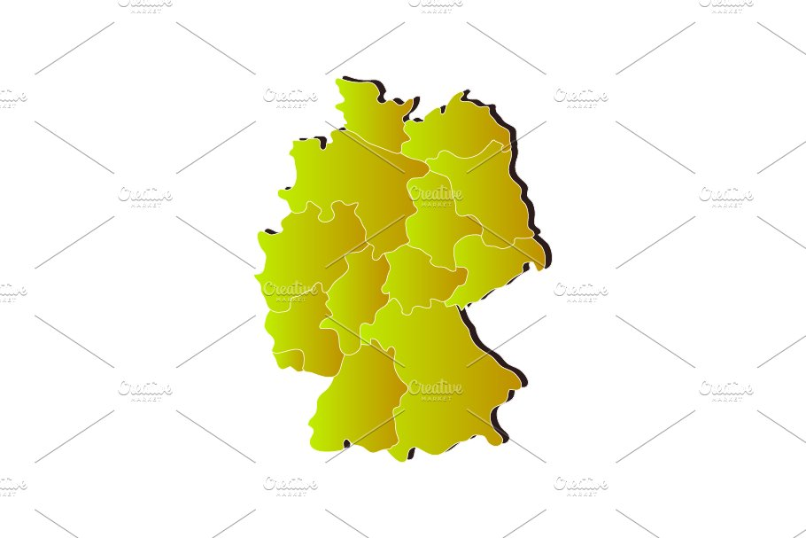 Map Of Germany Regions.Germany Map With Regions
