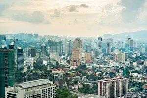 Modern architecture of Kuala Lumpur