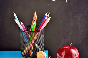 Chalk board and stationery