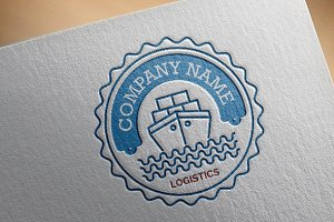 Shipping Logistics Logo Template