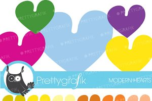 hearts clipart commercial use