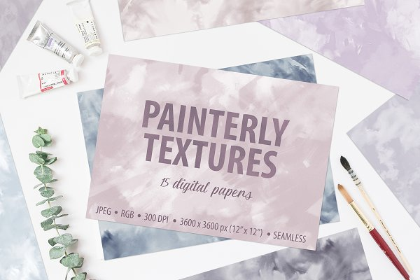 Seamless Painterly Pastel Textures
